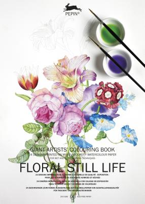 Floral Still Life: Giant Artists' Colouring Book - Van Roojen, Pepin