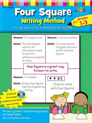 Four Square: Writing Method Grades 1-3 W/Enhanced CD: A Unique Approach to Teaching Basic Writing Skills - Gould, Judy, and Gould, Evan Jay, and Burke, Mary F