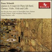 Franz Schmidt: Quintet in A major for Piano Left-hand, Clarinet, Violin, Viola and Cello - Christopher Ayer (clarinet); Evgeni Raychev (cello); Jennifer Dalmas (violin); Kae Hosoda-Ayer (piano); Kathryn Steely (viola)