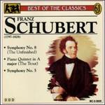 "Franz Schubert: Symphony No. 8 ""Unfinished""; Piano Quintet in A major ""The Trout""; Symphony No. 5"