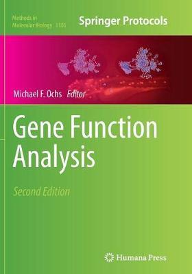 Gene Function Analysis - Ochs, Michael F (Editor)