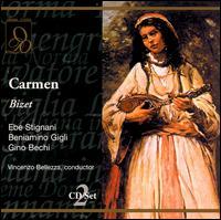 Georges Bizet: Carmen - Anna Marcangeli (soprano); Arturo la Porta (vocals); Beniamino Gigli (tenor); Ebe Stignani (vocals);...