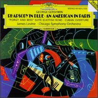 """Gershwin: Rhapsody in Blue; An American in Paris; """"Porgy and Bess"""" Suite (Catfish Row); Cuban Overture - James Levine (piano); Chicago Symphony Orchestra; James Levine (conductor)"""