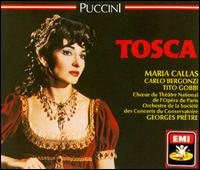 Giacomo Puccini: Tosca - Carlo Bergonzi (tenor); David Sellar (treble); Giorgio Tadeo (bass); Leonardo Monreale (bass); Maria Callas (soprano);...