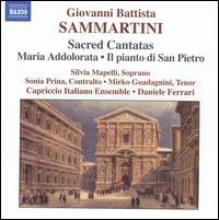 Giovanni Battista Sammartini: Sacred Cantatas - Capriccio Italiano Ensemble; Filippo Ravizza (harpsichord); Mirko Guadagnini (tenor); Silvia Mapelli (soprano);...