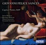 Giovanni Felice Sances: Capricci Poetici, 1649