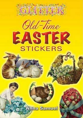 Glitter Old-Time Easter Stickers - Samuel, Anna