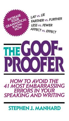 Goof Proofer - Manhard, Stephen J