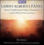 Guido Alberto Fano: Opera Completa per Violino e Pianoforte