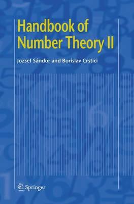 Handbook of Number Theory II - Sandor, Jozsef