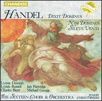 Handel: Dixit Dominus; Nisi Dominus; Silete Venti - Charles Brett (counter tenor); Christopher Royall (alto); Ian Partridge (tenor); Lynda Russell (soprano);...