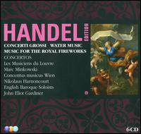 Handel Edition: Concerti Grossi; Water Music; Music for the Royal Fireworks - Alice Harnoncourt (violin); Alice Pierot (violin); Aline Zylberajch (organ); Anita Mitterer (violin);...