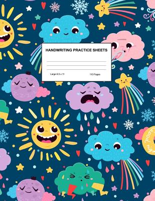 Handwriting Practice Sheets: Cute Blank Lined Paper Notebook for Writing Exercise and Cursive Worksheets - Perfect Workbook for Preschool, Kindergarten, 1st, 2nd, 3rd and 4th Grade Kids - Product Code A4 3485 - Stanley, Kiley