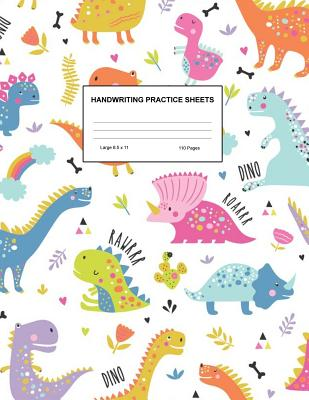 Handwriting Practice Sheets: Cute Blank Lined Paper Notebook for Writing Exercise and Cursive Worksheets - Perfect Workbook for Preschool, Kindergarten, 1st, 2nd, 3rd and 4th Grade Kids - Product Code A4 9389 - Wolfe, Makaila