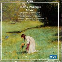 Hans Pfitzner: Lieder, Complete Edition, Vol.3 - Andreas Schmidt (baritone); Axel Bauni (piano); Christoph Prégardien (tenor); Donald Sulzen (piano);...