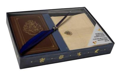 Harry Potter: Hogwarts School of Witchcraft and Wizardry Desktop Stationery Set (with Pen) - Insight Editions