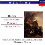 Haydn: Paukenmesse; Mozart: Vespers