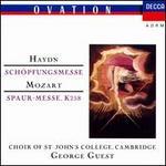 Haydn: Schöpfungsmesse; Mozart: Spaur-messe - April Cantelo (soprano); Felicity Palmer (soprano); Forbes Robinson (bass); Helen Watts (contralto); Margaret Cable (contralto); Philip Langridge (tenor); Robert Tear (tenor); Stephen Cleobury (organ); Stephen Roberts (bass)