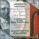 Haydn: String Quartets, Op. 76; Beethoven: String Quartet, Op. 18 No. 5