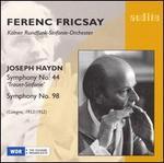 Haydn: Symphony Nos. 44 & 98