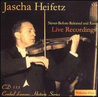 Heifetz: Never-Released & Rare Live Recordings, Vol. 1 - Emanuel Bay (piano); Jascha Heifetz (violin); Bell Telephone Hour Orchestra; Donald Voorhees (conductor)