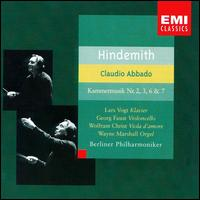 Hindemith: Kammermusik No. 2, 3, 6, & 7 - Georg Faust (cello); Lars Vogt (piano); Wayne Marshall (organ); Wolfram Christ (viola d'amore);...
