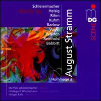 Hommage à August Stramm - Dorothea Hemken (viola); Hildegard Wiedemann (mezzo-soprano); Holger Falk (baritone); Ralf Mielke (flute);...