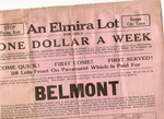 Elmira New York Ad for Buying Lots in the Belmont Section