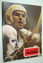 Vancouver Canucks Magazine, November 16, 1973-Nice Colour Cover Photo of Superpest Andre Boudrias