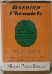 Bosnian Chronicle By: Ivo Andric (1963, Hardcover)