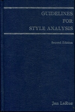 Guidelines for Style Analysis (Detroit Monographs in Musicology/Studies in Music, No 12) (Detroit Monographs in Musicology)