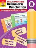 Evan-Moor Skill Sharpeners Grammar and Punctuation Grade 5, Full-Color Activity Book-Supplemental Homeschool Workbook