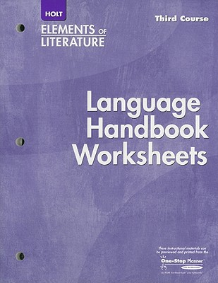Holt Elements of Literature, Third Course: Language Handbook Worksheets book  0 available