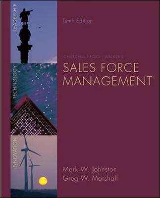 Sales Force Management - Johnston, Mark W, and Marshall, Greg W
