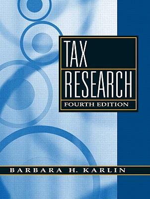 Tax Research - Karlin, Barbara H