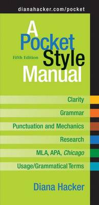 A Pocket Style Manual - Hacker, Diana, and Sommers, Nancy (Contributions by), and Jehn, Tom (Contributions by)
