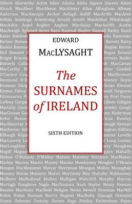 Surnames of Ireland - MacLysaght, Edward