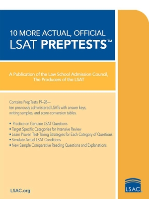 10 More Actual, Official LSAT PrepTests - Law School Admission Council (Creator)