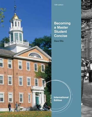 Becoming a Master Student: Concise - Ellis, Dave