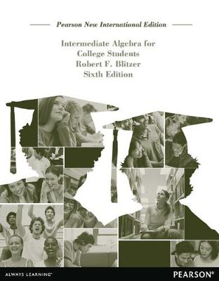 Intermediate Algebra for College Students - Blitzer, Robert F.