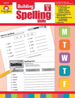 Building Spelling Skills, Grade 5 - Moore, Jo Ellen, and Evan-Moor Educational Publishers