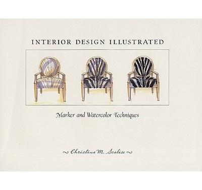 Interior design illustrated marker and watercolor for An illustrated history of interior decoration