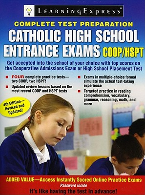 Catholic High School Entrance Exams, COOP/HSPT - Learning Express LLC