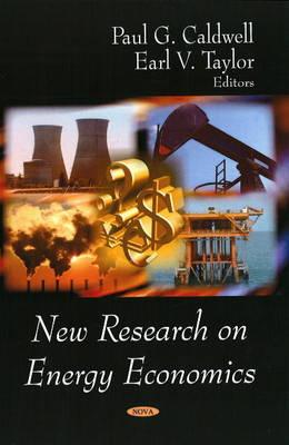 New Research on Energy Economics - Caldwell, Paul G