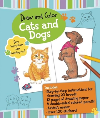 Draw and Color: Cats and Dogs - Fisher, Diana (Illustrator)