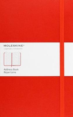 Moleskine Address Book Large, Red - Moleskine