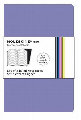Moleskine Volant Notebook Ruled, Purple Large - Set of 2 - Moleskine