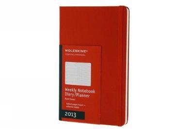 Moleskine 2013 12 Month Weekly Notebook Planner Red Hard Cover Large (Moleskine Diaries) - Moleskine