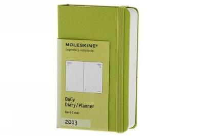 Moleskine 2013 12 Month Daily Planner Lemon Green Hard Cover X-Small (Moleskine Diaries) - Moleskine