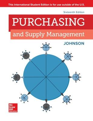 ISE PURCHASING AND SUPPLY MANAGEMENT - Johnson, P. Fraser